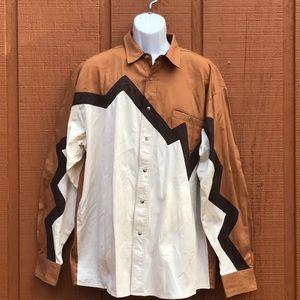 Wrangler Men's Pearl Snap Western Shirt Zig Zag XL